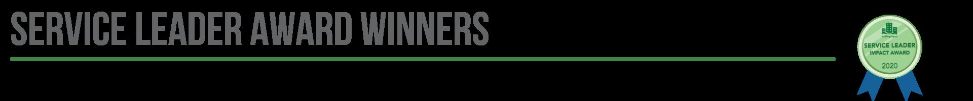Service Leader Award Winners